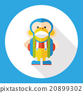 toy monkey flat icon 20899302