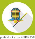 sport fencing flat icon 20899350