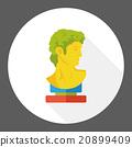 statue art flat icon 20899409