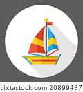 boat flat icon 20899487
