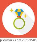 diamond ring flat icon 20899505