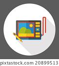 Drawing board flat icon 20899513
