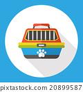 pet dog travel cage flat icon 20899587