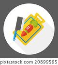 Cutting board flat icon 20899595