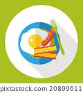 breakfast flat icon 20899611