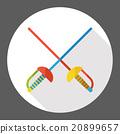 sport fencing flat icon 20899657
