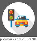 Traffic lights flat icon 20899706
