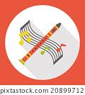 instrument flute flat icon 20899712