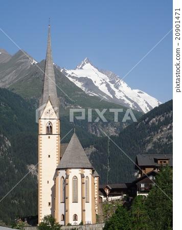 하이리겐부루토 교회와 오스트리아 최고봉 그로스 글록 너 20901471