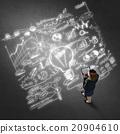 businesswoman, folder, creative 20904610