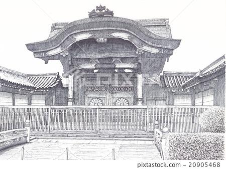Higashi Honganji Chrysanthemum gate 20905468