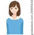 女性姿勢表情 20905816