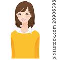 女性姿勢表情 20906598