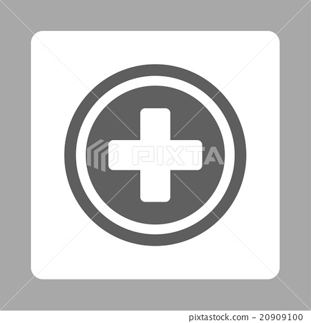 Rounded Cross Rounded Square Button Stock Illustration 20909100