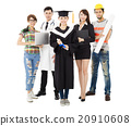 people in different occupations standing with graduation 20910608