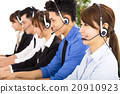 young business people and colleagues working in  call center 20910923