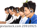 young business people and colleagues working in  call center 20910925