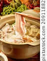 Chinese cabbage and pork hot pot               20911882