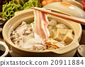 Chinese cabbage and pork hot pot               20911884