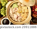 Chinese cabbage and pork hot pot               20911886