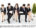 stress business people waiting for interview 20912357