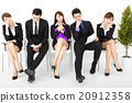bored business people waiting for interview 20912358