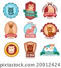Cats emblem set 20912424
