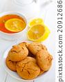 Sweet cookies with fresh tea 20912686