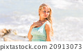 beach happy woman 20913073