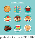 vector desserts favorite set flat design 20913382