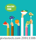 healthy food concept flat design 20913386