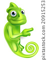 Pointing Cartoon Chameleon 20915253