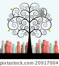 owl, tree, vector 20917004