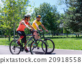 Cycling in countryside 20918558