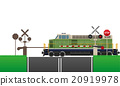 railroad crossing vector illustration 20919978