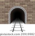 railway tunnel vector illustration 20919982