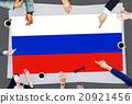 Russia Flag Patriotism Russian Pride Unity Concept 20921456