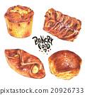 bread, set, pastry 20926733