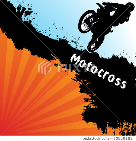 Vector motocross background 20929185