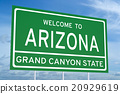 Welcome to Arizona concept on road sign 20929619