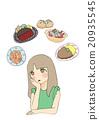 여성, 먹고, 요리 20935545