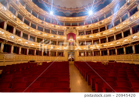 Theater,  interior view, arena and balconies 20945420