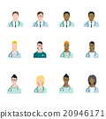 Set of doctor avatars profession, basic characters 20946171