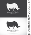 Vector image of an rhino design  20951037