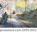 铁路 踪迹 足迹 20951652