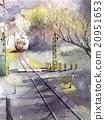 railway, railroad, track 20951653