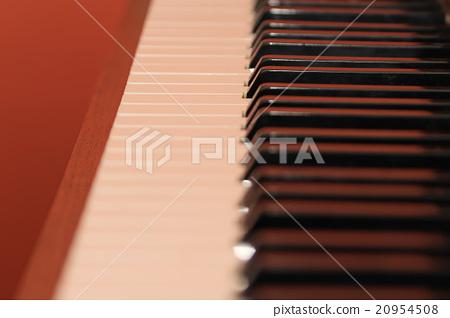 Piano keys, black and white 20954508
