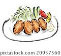 西餐 油炸食品 油炸的 20957560