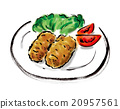 crab cream croquette, western food, fry 20957561