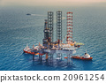 Image of oil platform with color tone 20961254